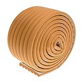 MagiDeal 2m Länge Baby Kinder Soft Tisch Möbel Kantenschutz Eckenschutz - Holzfarbe, wie beschrieben