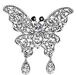 Hosaire 1x Brosche Mode Schmetterling Anhänger Broschen Damen Kleidung Dekoration Legierung Diamant Brosche Schmuck Zubehör Brooch