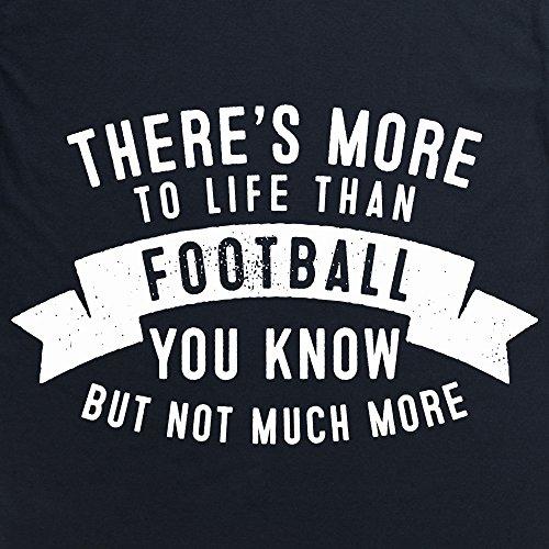 More To Life - Football T-Shirt, Damen Schwarz