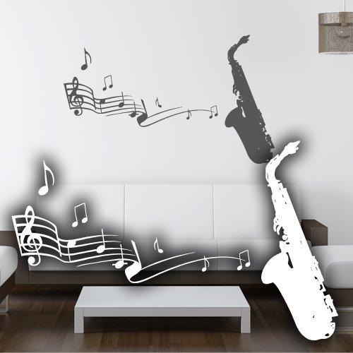 Tuba Saxophon (Wandkings Wandtattoo