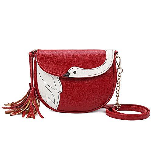 GBT Art und Weisehandtaschen Kawaii Frauen-Schulterbeutel Red