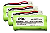 3 x Batterie VHBW 800mAh per telefono cordless AEG Dolphy come BC102906, 87C, BT-34H, 60AAAH2BMJ, T377.