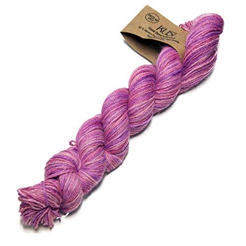 Alpaka Select Kusi 4-lagig hangefärbtes Strickwolle Garn FREESIA-Candy pink/lilac/cerise -