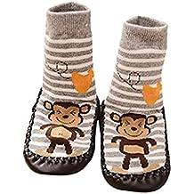 Calcetines de bebé Auxma Niños de Dibujos Animados Niños bebé Antideslizante Calcetines Calzados Calcetines Pantuflas para