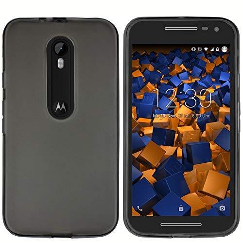 mumbi Schutzhülle Motorola Moto G (3. Generation) Hülle transparent schwarz