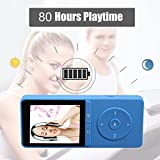 from FecPecu MP3 Player, FecPecu 80 Hours Playback 8GB Music Player Hi-Fi Sound, With FM Radio and Voice Recorder Function, Support Expandable up to 64GB (Blue) Model PB20-A-mp3