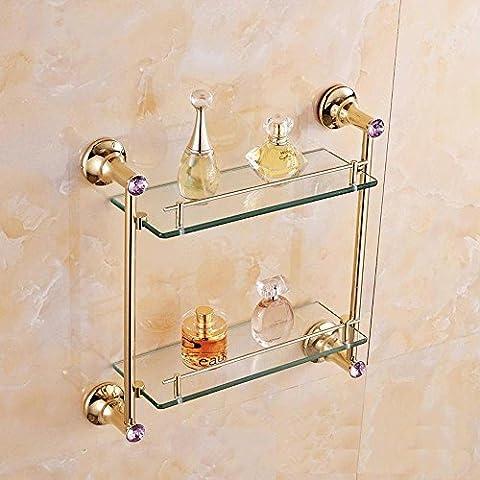YUPD@Bagno doppio vetro diamante rame europea scaffali accessori