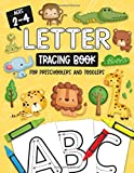 Letter Tracing Book for Preschoolers and Toddlers: Homeschool, Preschool Learning Activities for Age 2-4 Year Olds (Big ABC Books) Letters and Numbers ... and Sight Words : Jungle Animal Book Cover