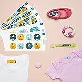 Pack 167 étiquettes personnalisées Crèche Licorne par Ludilabel | Haute Qualité Fabrication 100% Française | étiquettes vêtements enfants et objets résistants et faciles à coller.