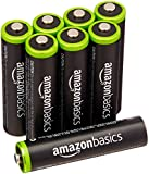 AmazonBasics AAA Pre-Charged Rechargeable Batteries 800 mAh [Pack of 8]