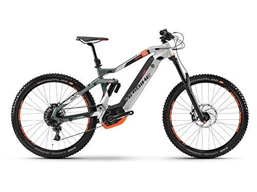 Haibike XDURO NDURO 8.0 E-Bike 500Wh E-Mountainbike oliv/silber/orange matt