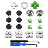eXtremeRate Pulsanti per Proiettili Magnetici in Metallo Dpad, Altezza Regolabile per Joystick in Alluminio, Parti di Ricambio per PlayStation 4, PS4 Slim, PS4 Pro Controller (31 in 1)