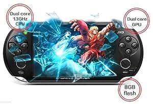 JXD S5110b 5 pouces Android Tablettes tactiles Tablet PC (noir) avec la console de jeu physique jeu de manette contrôleur de stockage 8G compatible avec NES/SFC/N64/SEGA MD/GBA/CPS1 & 2/NEOGEO/etc . Jeux de émulateur venir avec les médias comprend 10000 jeux