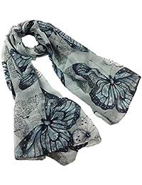 Cinnamou Femmes Sexy Imprimer Papillon Etoles Long Soft Paris Foulard  Foulard Wrap Châle Stole Foulards 927a1048213
