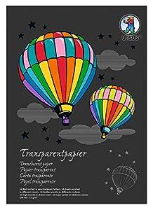 Ursus 12164699se Manualidades Bloque Papel DIN A4, 115g, 24Hojas, 17Colores Surtidos, Transparente