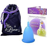 Me Luna Coupe menstruelle Classic, manche bleu taille L