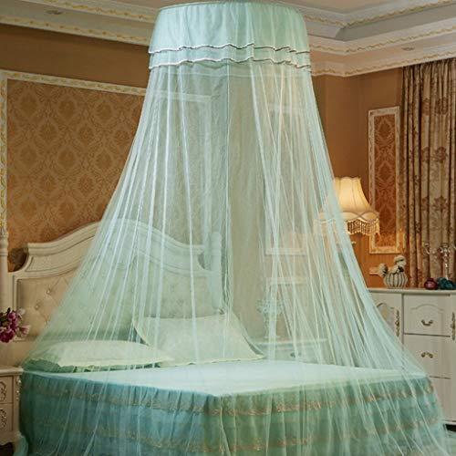 VkospyRund doppelten Spitze Vorhang Dome Bett-Überdachung Princess Moskitonetz mit leuchtendem Schmetterlinge -