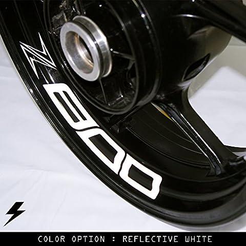 Kawasaki Z800 moto cerchio interno adesivo in vinile GL