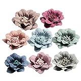 MagiDeal 10er St Blumen-Köpfe Kunstblumen Blüten Kamelie Künstliche Blumen Hausdeko Hochzeit Deko - Multicolor