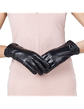 LYJBIK Guantes De Invierno Femenina Además De Terciopelo Caliente Pantalla Táctil De Espesor