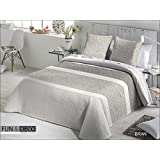 Fundeco Colcha Bouti Bran, Cama 150/160 Cms, Color Gris