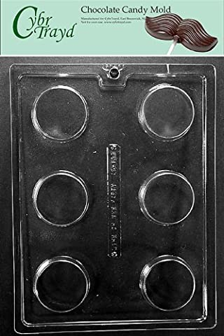 Cybrtrayd AO138 Plain Cookie Chocolate Candy Mold with Exclusive Cybrtrayd Copyrighted Chocolate Molding Instructions