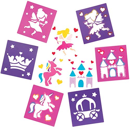 Baker Ross Elf Prinzessin Schablonen für Kunsthandwerk - Neuheit Spielzeug für Kinder, perfekte Party, Beute oder Grabbelsack (Packung mit 6)