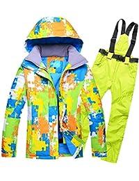 Traje de esquí Modelos de Pareja Hombres Ms al Aire Libre a Prueba de Viento Pantalones de esquí de Gran tamaño Impermeables, XL, 1Fruit Verde