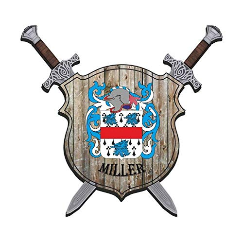 Irish Charm Plaques Miller Coats of Arms Familienname Nachname Wandschild Wappen