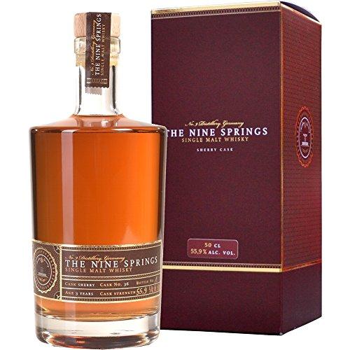 The Nine Springs Sherry Cask Fassstärke Single Malt Whisky 0.5 l