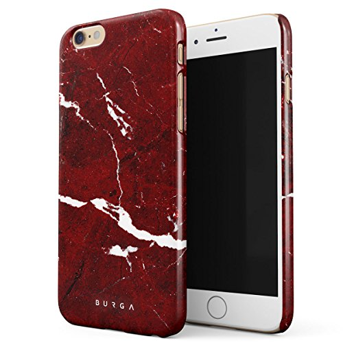 Cover iPhone 6 / 6s Colorato Marmo, BURGA Unicorno Arcobaleno Cotton Candy Marble Design Sottile, Guscio Resistente In Plastica Dura, Custodia Protettiva Per iPhone 6 / 6s Case Iconic Ruby
