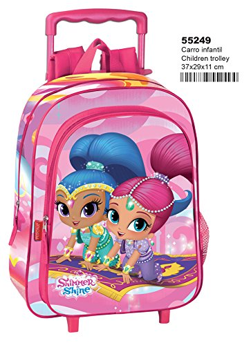 Shimmer and Shine - Mochila infantil con carro 37x29x11cm