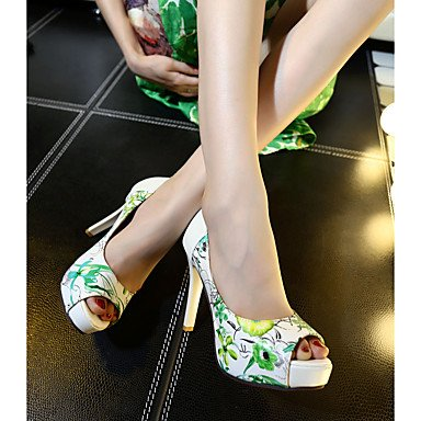 LvYuan Sandali-Formale-Altro-A stiletto-Finta pelle-Nero Blu Verde Rosso Black