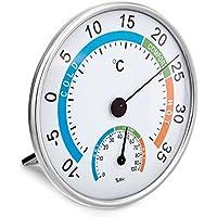 VARA higrómetro de precisión, higrómetro de pelo sintético, control de la temperatura y la humedad ambiente / termohigrometro - con 2 años de garantía de devolución de dinero