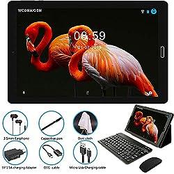 Tablette Tactile 10 Pouces Android 8.0 Tablette avec Quad Core 3 Go de RAM et 32 Go ROM,4G LTE Phablet avec 3 Slots (Double SIM+ SD),8.0MP+5.0MP Double caméra WiFi Bluetooth GPS