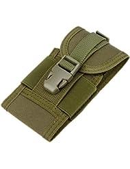 sypure (TM) Militar ejército táctico bolsillo Funda de piel caso cubierta protectora para la caza de Acampada y funda para el móvil, army Green