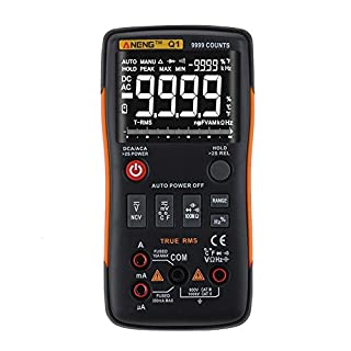 Asiproper ANENG Q1 True-RMS Digital Multimeter Button 9999 Counts with Analog Bar