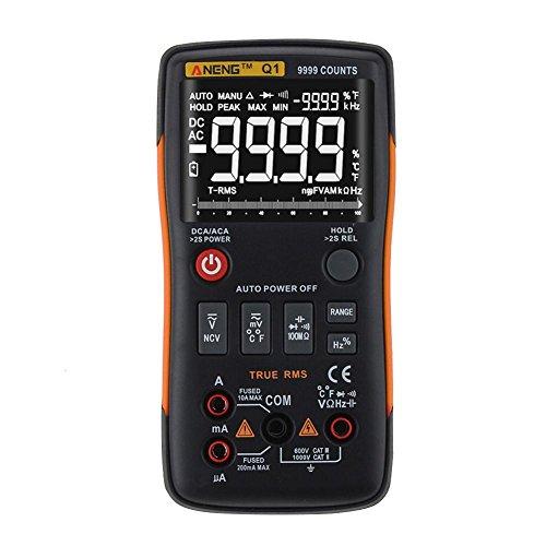 RLFS ANENG Q1 Multimetro digitale True-RMS Il pulsante 9999 conta con la barra analogica