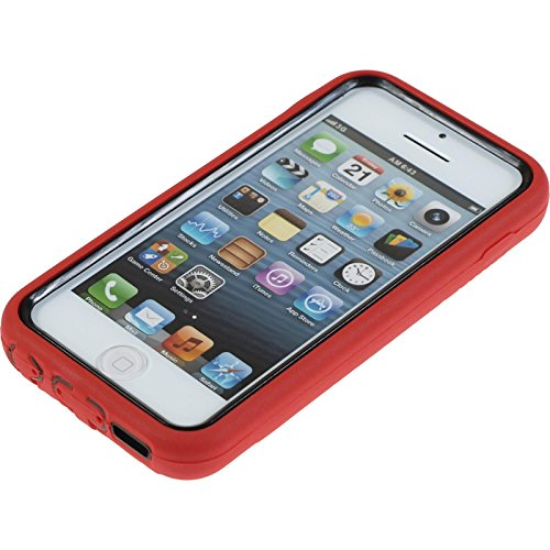 PhoneNatic Case für Apple iPhone 5c Hülle pink ShockProof Hard-case für iPhone 5c + 2 Schutzfolien Rot