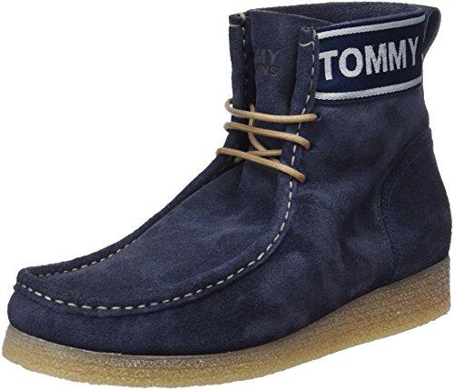 Hilfiger Denim Herren Crepe Outsole Suede Wallaby Desert Boots, Blau (Ink 006), 44 EU