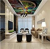 Hintergrundbild Wandsticker Wandtattoo Wanddekorationfototapete Custom Bunte Abstrakte Spirale Muster Wand Restaurant Studio Wohnzimmer Hotel Decke Tapete, 430 * 300Cm