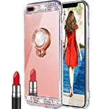 Coque iPhone 8 Plus/7 Plus, Miroir Maquillage De Luxe Glitter Strass Diamant Cristal...