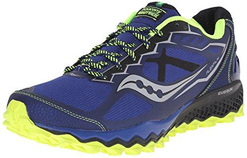 Saucony Peregrine 6, Chaussures de Trail Homme Bleu (Blue/Citron/Black)