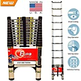 Euro Telescopic Aluminium Ladder 3.8 Mtr (13 Feet) - Stores At 2.9 Feet - Ultra Portable