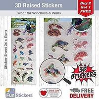 Fun Stickers 3D Rainforest Lizards & Snakes 1517