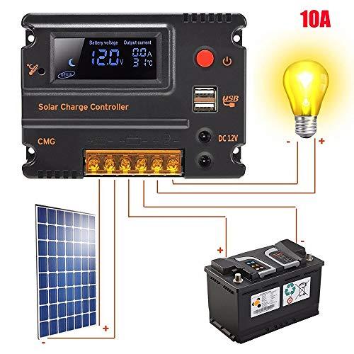 tianranrt regulador controlador LCD Display Pantalla PWM Panel Solar sobrecarga cortocircuito circuito...