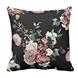 Best Throw Pillows - YaYa cafe Printed Canvas Fabric Floral Flower Throw Review