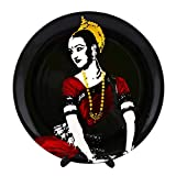 """KOLORBIA DANCES OF INDIA ODISSI INSPIRED HOME DÉCOR WALL PLATE 10"""""""