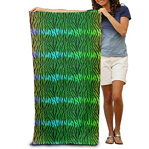xcvgcxcvasda Badetuch, Soft, Quick Dry, Neon Tiger Print Adults Beach Towel 31