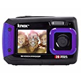 Knox Dual-LCD-Display-20MP Wasserdicht und stoßfest Digitalkamera (Purple)